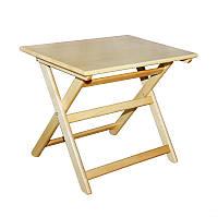 """Столик """"Компакт-мини"""" 60/50 (деревянный, складной) из массива БУКА"""