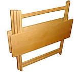 """Столик """"Компакт-міні"""" (дерев'яний, складний) з масиву БУКА, фото 3"""