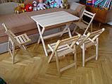 """Столик """"Компакт-міні"""" (дерев'яний, складний) з масиву БУКА, фото 5"""