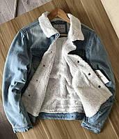 """Куртка зимняя мужская джинсовая на меху """"Alpha Nation"""" 4XL"""