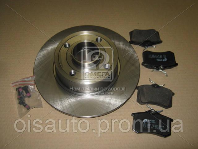 Комплект тормозной задн. RENAULT CLIO/MEGANE /MODUS 02.2004- (пр-во REMSA)