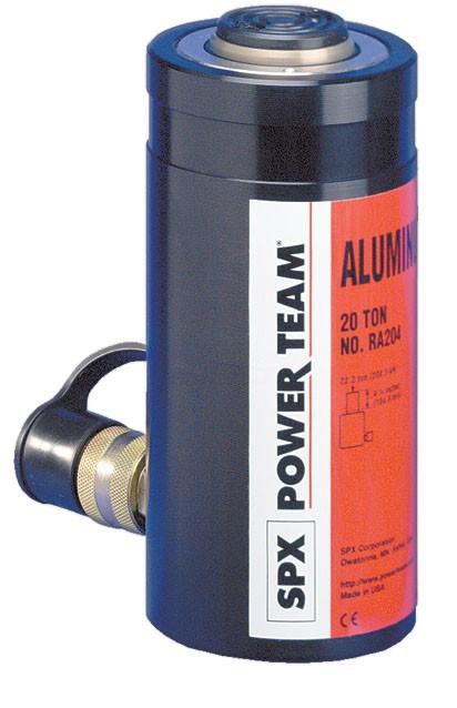 Гидравлические цилиндры из алюминия СЕРИИ RA. Мощность 20-100 тонн.
