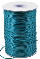 Шнур Вощеный Полиэстер, подходит для плетения браслетов, Цвет: Аквамарин, Размер: Диаметр 0.5мм, (УТ000004810)