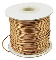 Шнур Вощеный Полиэстер, подходит для плетения браслетов, Цвет: Коричневый, Размер: Толщина 1мм, (УТ000004822)