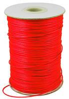Шнур Вощеный Полиэстер, подходит для плетения браслетов, Цвет: Красно-оранжевый, Размер: Диаметр 0.5мм, (УТ000004806)