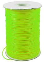 Шнур Вощеный Полиэстер, подходит для плетения браслетов, Цвет: Салатовый, Размер: Диаметр 0.5мм, (УТ000004808)
