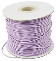 Шнур Вощеный Полиэстер, подходит для плетения браслетов, Цвет: Светло-сиреневый, Размер: Толщина 1мм, (УТ000004812)