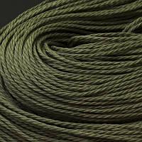 Шнур Вощеный Полиэстер, подходит для плетения браслетов, Цвет: Темно-зеленый, Размер: Диаметр 1мм, около 80м/связка, (УТ0003447)