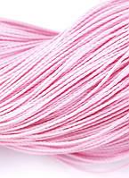 Шнур Вощеный Полиэстер, подходит для плетения браслетов, Цвет: Розовый, Размер: Диаметр 1мм, около 80м/связка, (УТ0003491)