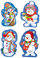 Набор новогодних декоративных элементов: Снеговик новогодний