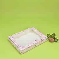 """Коробка 200*150*30 для пряника з вікном, """"Кришталеве серце"""""""