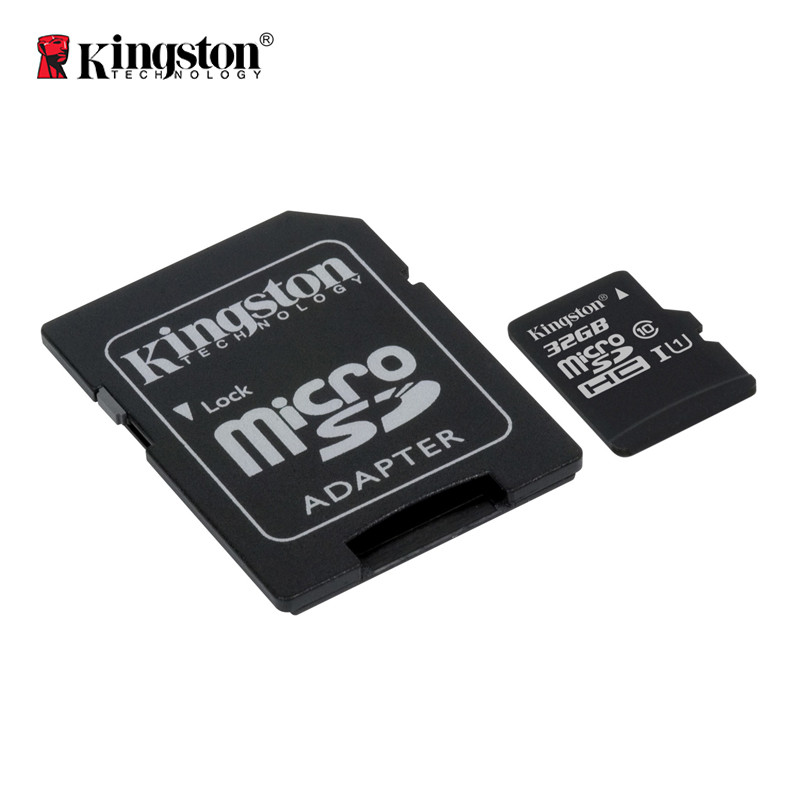 Карта памяти Kingston Canvas microSDHC + SD adapter SDCS/32GB (32GB, Class10, UHS-I, 80MB/s)