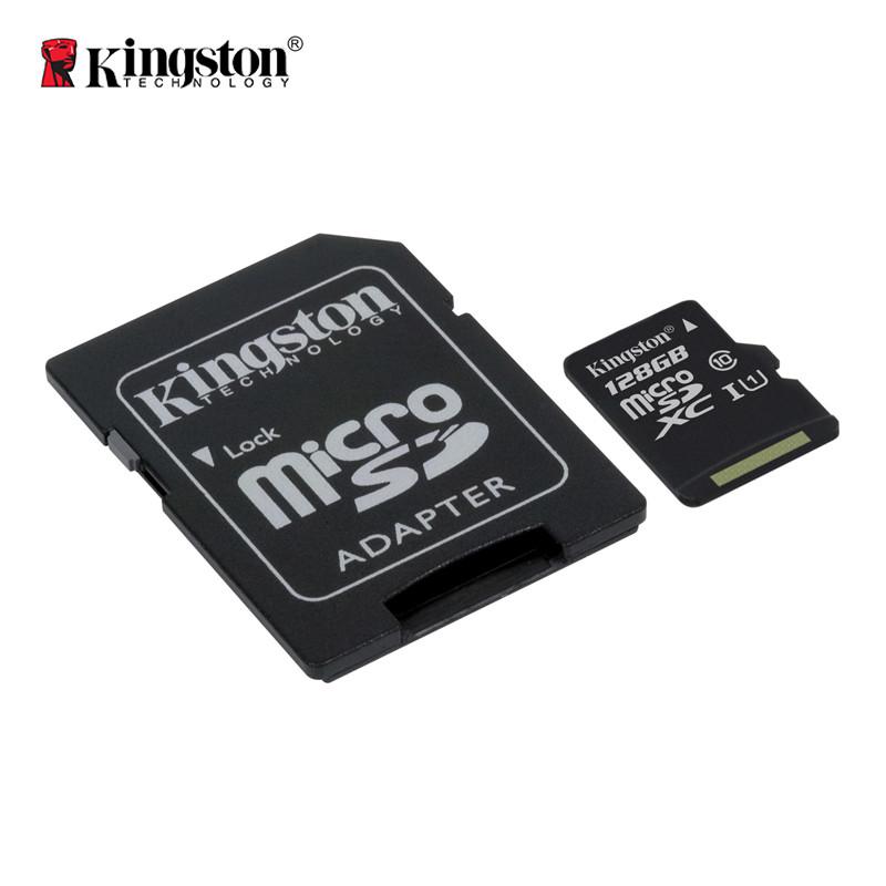 Карта памяти Kingston Canvas microSDXC + SD adapter SDCS/128GB (128GB, Class10, UHS-I, 80MB/s)