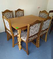 Комплект для кухни (стол+6 стульев) немецкого производства из Германии в хорошем состоянии