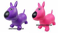 Прыгуны-собачки 1592   ПВХ, 1300 г,цвета, в кульке, 32-34-7 см розовая,фиолетовая.
