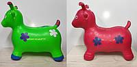 Прыгун Козлик резиновый  надувной,красный,зеленый.