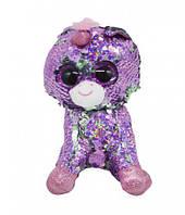 """Мягкая игрушка """"Глазастик с пайетками: фиолетовый единорог"""" 165017"""