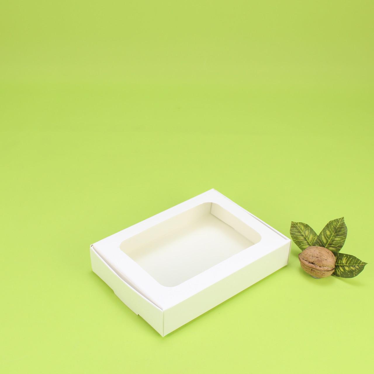 Коробка 150*110*30 для пряника з вікном, біла