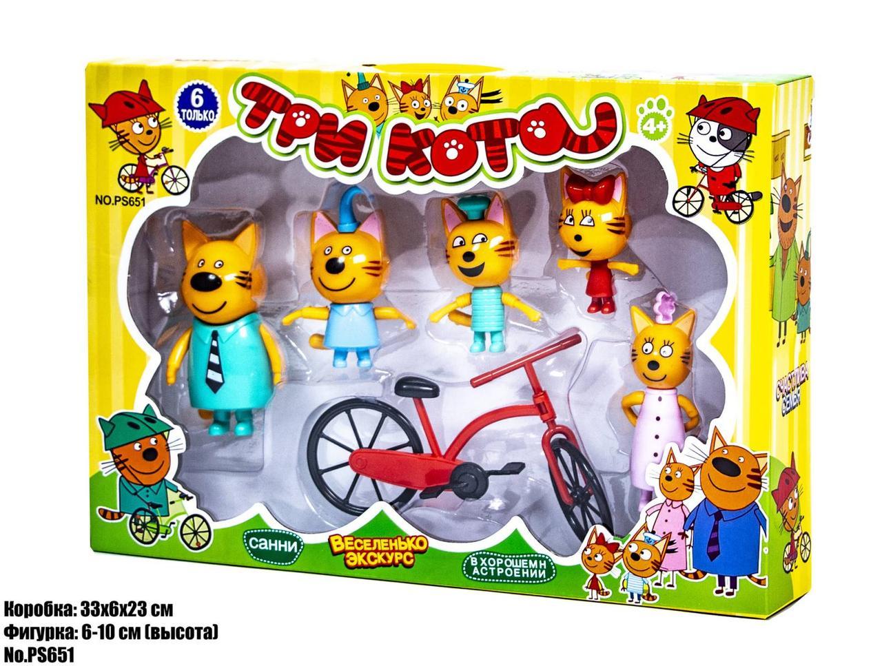 Ігровий набір Три Кота на велосипеді PS651
