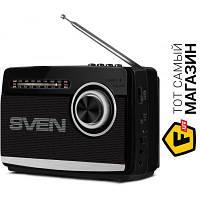 Переносной радиоприемник от батареи, от сети Sven SRP-535 Black