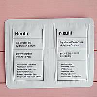 Крем и сыворотка для лица Neulii Bio Water B9 Serum+Squalane Desertica Cream 2 пробника
