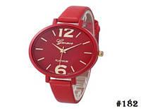 Женские кварцевые наручные часы / годинник Geneva Platinum красного цвета (182)