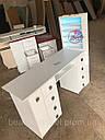 Профессиональный маникюрный стол с бактерицидной лампой УФ-лампой, подсветкой и вытяжкой, фото 3