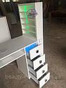 Профессиональный маникюрный стол с бактерицидной лампой УФ-лампой, подсветкой и вытяжкой, фото 4