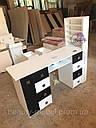 Профессиональный маникюрный стол с бактерицидной лампой УФ-лампой, подсветкой и вытяжкой, фото 7