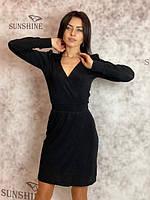 Женское платье из трикотаж-люрекс Poliit 8671