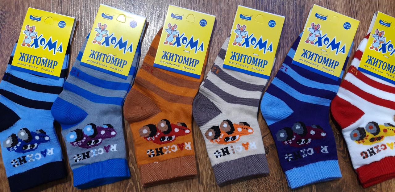 """Дитячі стрейчеві шкарпетки""""ХОМА Master"""" Житомир Машинка 12-14(1-2 роки)"""