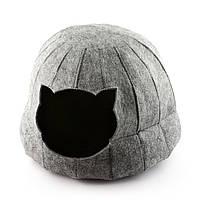Домик для животных Digitalwool полусфера с подушкой Серый