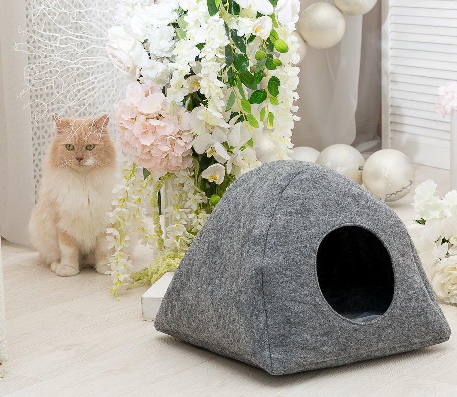 Домик для кошки Digitalwool палатка Серый