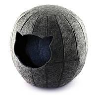 Домик для животных Digitalwool шар с подушкой Серый