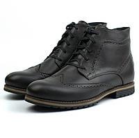 Обувь больших размеров ботинки зимние коричневые броги кожаные Rosso Avangard Winter Brogues Rown Leather BS, фото 1