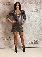 Женское платье из пайетки Poliit 8670