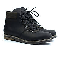 Мужская обувь больших размеров зимние ботинки хайкеры кожаные мех Rosso Avangard Rangers Street Crazy Black BS, фото 1