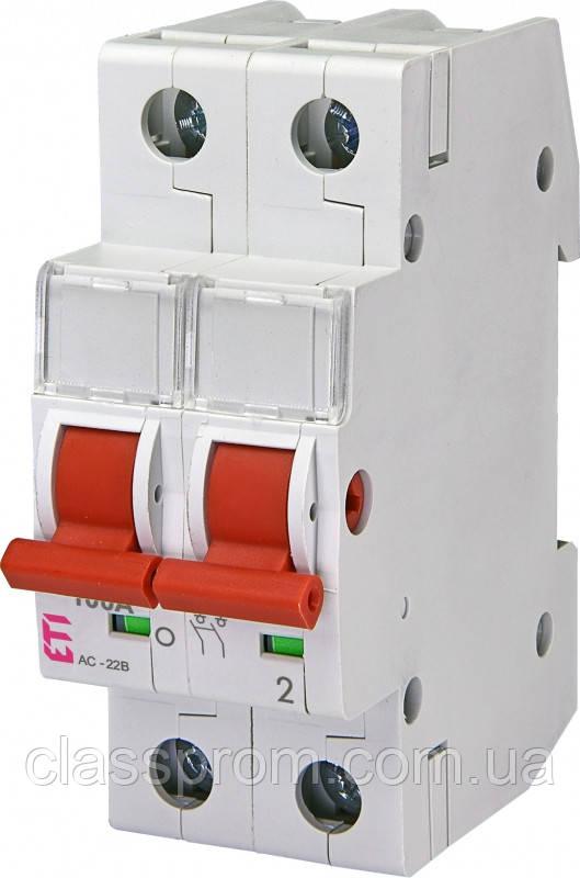 Выключатель нагрузки SV 2100  2р 100A ETI 2423216