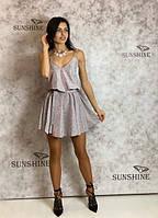 Женское платье из трикотаж-люрекс ArtJ 3440