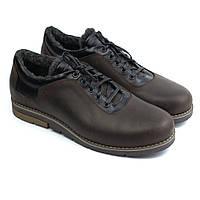 Обувь больших размеров зимние туфли на меху коричневые мужские кожаные Rosso Avangard Ragn Street Brown BS, фото 1