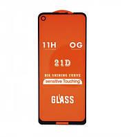 Защитное стекло 21D Full Glue для Motorola One Action (XT2013-2) черное 0,3 мм в упаковке