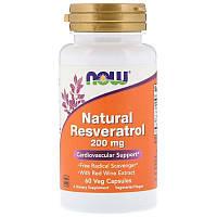 Ресвератрол Now Foods, 60 капс. по 200 мг, resveratrol