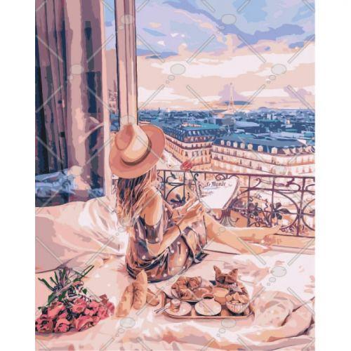 "Картина по номерам ""Отдых в Париже"" КНО4544  sco"