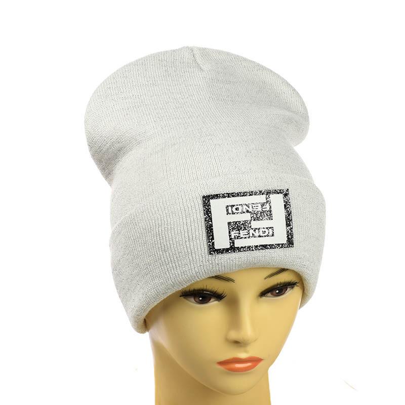 Женская люрексовая шапка - Fendi