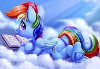 """Харчовий цукровий / вафельний їстівний друк _ лист  """"Маленькі Поні / MyLittlePony - Rainbow Dash"""""""