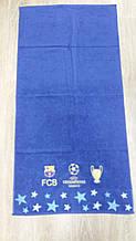 Полотенце махровое банное с символикой FC Барселона Champions League