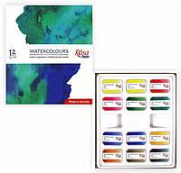 Набор акварельных красок 12 цветов Rosa Studio, 340212