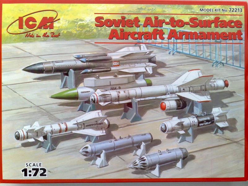 Сборные модели вооружения советских самолетов класса воздух-земля в масштабе 1/72. ICM 72213