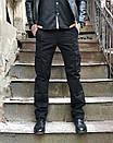 8813-1 D черные ITENO брюки-карманы мужские полубатальные демисезонные не тянутся (33-42, 6 ед.), фото 2