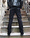 8813-1 D черные ITENO брюки-карманы мужские полубатальные демисезонные не тянутся (33-42, 6 ед.), фото 4